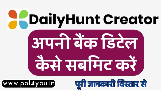 how to fill Payments detail in dailyhunt